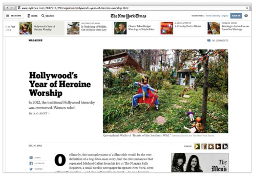 OMG The New York Times is planning a major redesign! Excuse us while we nerd out for the next six hours.