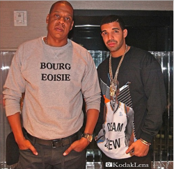 billidollarbaby:  Jay-Z & Drake In The Studio