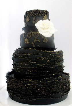 {Divine} black wedding cake | by Maggie Austin Cake