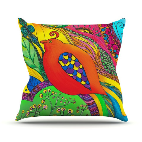 "Catherine Holcombe ""Psycho-Delic Dan"" Throw Pillow"