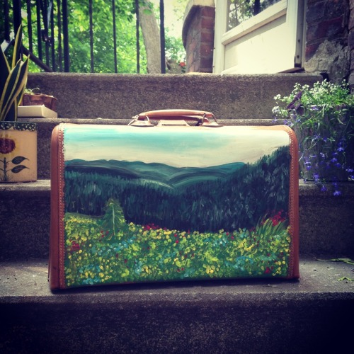Started the day by painting my newest suitcase.