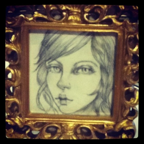 New tiny portrait #art #artist #artistoninstagram #instamood #portrait #girl #drawing #eyes