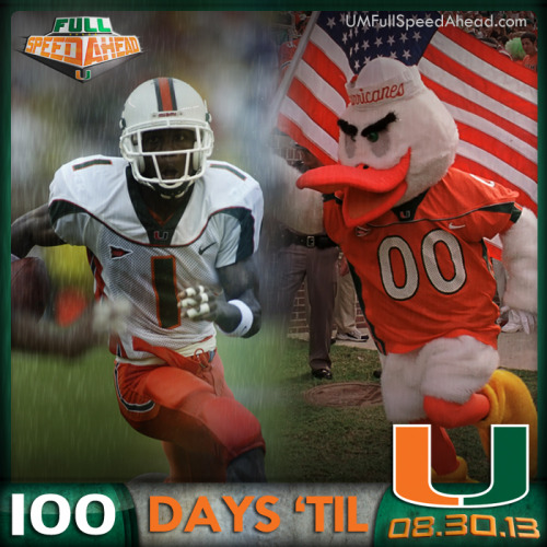 100 days until kickoff. Are []_[] ready? Get your season tickets today by calling 305-284-2263.