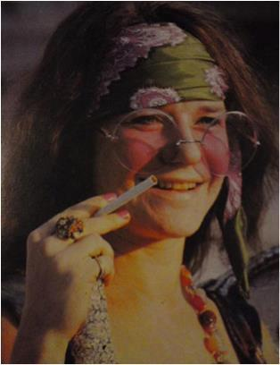 janis joplin in headband and teashades