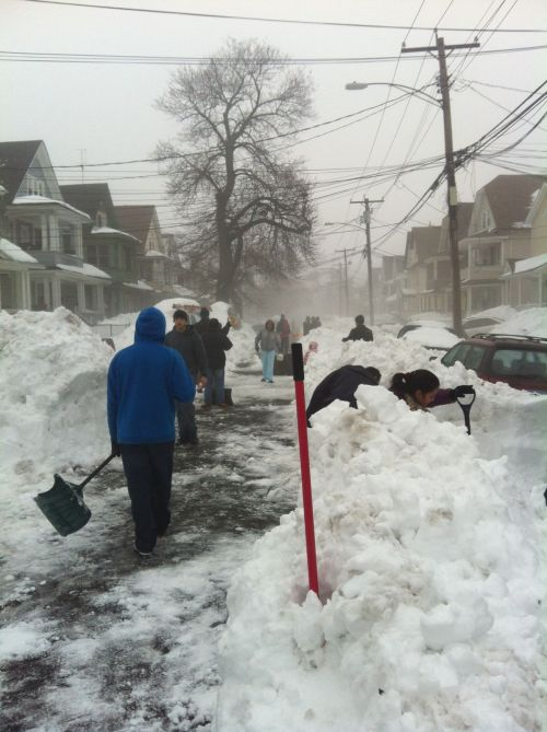 NEWS 8 Report It Photo of the Day: Residents from Lenox Avenue in Bridgeport. Conn. took matters in their own hands to ensure snow was being removed following the Blizzard of 2013. Neighbors got together and shoveled the street. Photo sent in via Report It by Carmen Torres.
