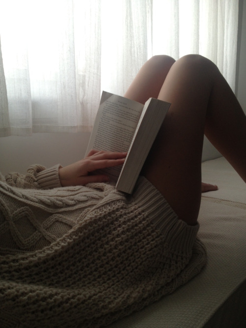 your sweater, my legs, our happiness.