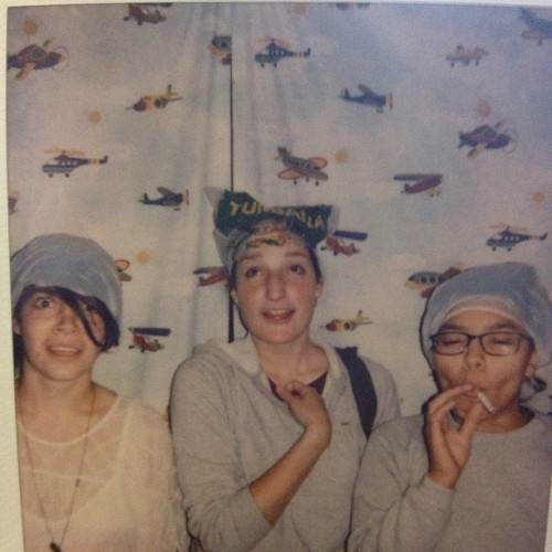 My favorite #polariod ever. #tbt #hair #girls #airplanes #bananas #bags #smoking #thebestwaytobleachyourhair #boston #lowell #mass #instagood #instagram #instadaily #instaboston