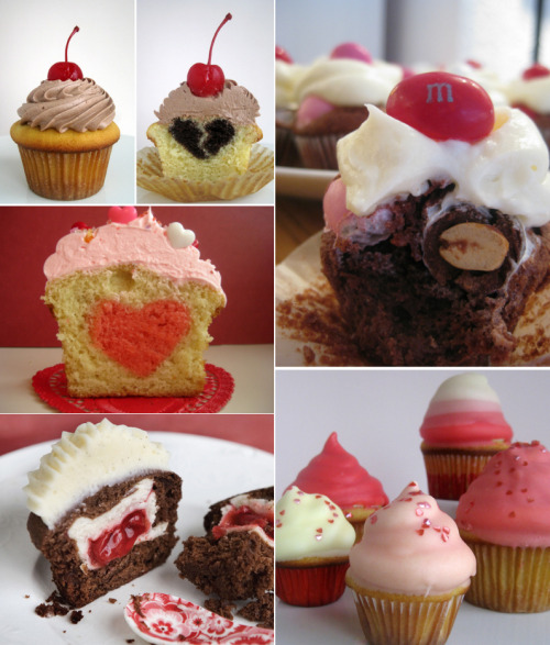 Still don't know what kind of treat you want to make for Valentine's Day? That's okay! Here are five different delicious recipes that I wholeheartedly recommend for the holiday. And even if you think Valentine's Day is dumb, you at least like one more excuse to eat some sugar, right?  Heart-Filled Cupcakes Broken Heart-Filled Cupcakes  Peanut M&M brownie bites Pink ombre hi-hat cupcakes Cherry pie-filled chocolate cupcakes Happy Valentine's Day! <3 (Or happy Sugar-Eating Day… whichever you'd prefer.)