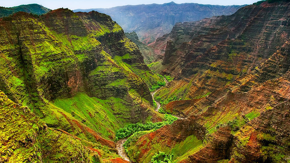 KAUAI, HAWAII Heading to Kauai? Don't forget to pack your hiking boots. You'll want to don them to trek the undulating trails of Waimea Canyon, known as the Grand Canyon of the Pacific.  (via Waimea Canyon State Park : Daily Escape : Travel Channel)
