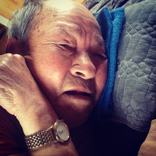 Napping grandpa
