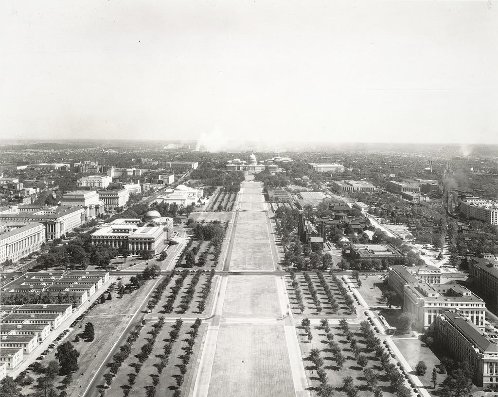 The National Mall in 1942, Washington D.C.