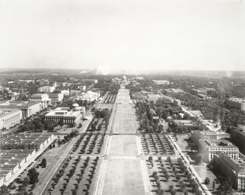 iwishforanother:  archimaps:  The National Mall in 1942, Washington D.C.  twas simpler then.  aside from the vietnam memorial, much might have been deleted.