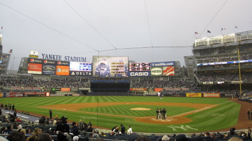 First ever Yankee's game, sitting right behind home plate in the coushy chairs!