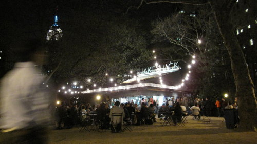 Post movie: back to MSP for a Shake Shack dinner date under the lights of the Empire State Building.