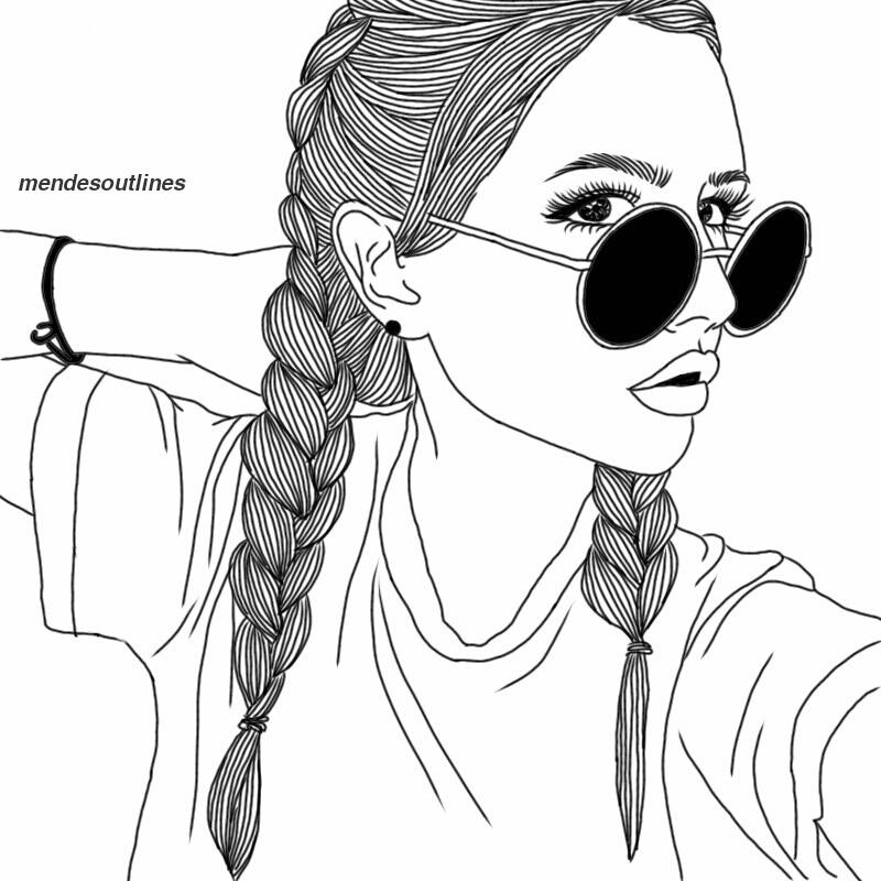 Line Drawing Of Girl Tumblr : Outlines — lit af