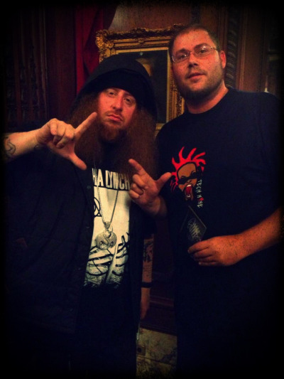 Our bro Gary linked up with the big homie @TheRealRittz during the KC stop of Strange Music's Independent Powerhouse Tour. Reppn that #LEAGUESHIT. Be sure to cop Rittz's debut album The Life and Times of Johnny Valiant if you haven't already!! It's worth every penny.