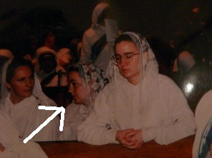 "Yeah this is me, totally not praying when I was a nun. Holy Week was hard on a sister. Well this sister at least. And don't even ask ""what was a butch um…whatever…doing in a place like that?"" Hell, everyone in the convent was a little in the ""um whatever"" gender category. Want to read more?"