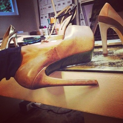 Up and at 'em, #NYC! Time to design some @Ruthie_Davis #Heels! XO