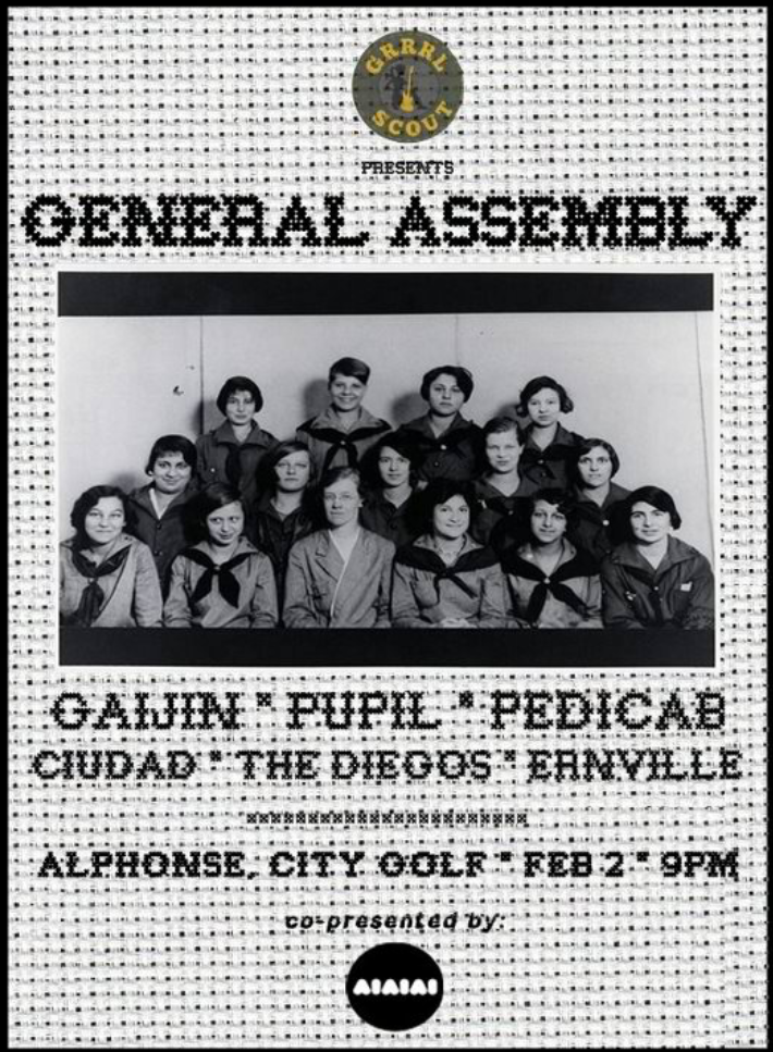 Happening tonight!! See you guys!!! GRRRL SCOUT!
