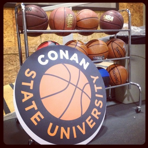 teamcoco:  Conan State University basketballs backstage. (at Warner Bros Stage 15)