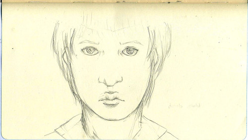 A quick sketch…. of actually a fan art.. my take on Akane Tsunemori from Psycho-pass