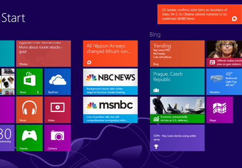 "Desktop alerts are here!  We just rolled out a new update to our Windows 8 app that brings major Breaking News alerts to your desktop and tablet — even when you're not inside the app.As you can see above, a Breaking News alert has appeared on the upper-right of the screen.  Depending on the news, we typically send one or two a day, focusing on the biggest stories.  You'll need to activate the notifications when you first download or update the app.We've also launched a ""live tile"" that displays the latest breaking stories — smaller stories that we update throughout the day — on the Start screen.  For more details about a report, you can pop open the Breaking News app and drill down to the source of the story.  For our news partners, this will mean more clicks as Windows 8 scales.Both of these additions make it easy to stay on top of the news in real-time with minimal interruption while you work.  Download the Windows 8 app right here. If you have a Windows Phone, we have an app for that, too."