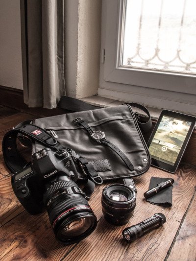What's in your bag? My basic travel gear.  When I board a plane, train, and sometimes a car, these things are in that bag. What about you?  What's in your bag? Follow me and post a photo reply!