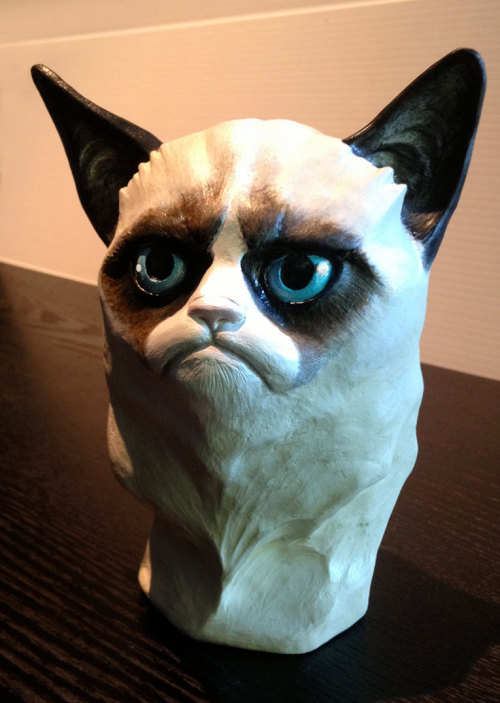 Someone on Etsy is selling a hand-painted bust of Tard and the world is a better place for it.