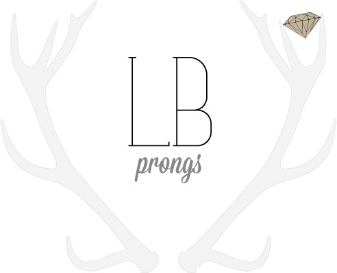 The logo I'm in the process of designing for my new jewelry collection 'Prongs'.
