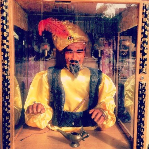 Stopped to take a photo of Zoltar and he started yelling at me.