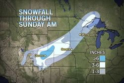 Snow Piling Up in Denver, on Track to Biggest Snow This Year  Heavy snow will spread from the Rockies to parts of the Plains into Sunday, bringing travel disruptions to Denver, Colorado Springs, along with other cities and wide open spaces in the region.