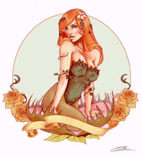 timetravelandrocketpoweredapes:  POISON IVY by Lorena Carvalho Artist's blog