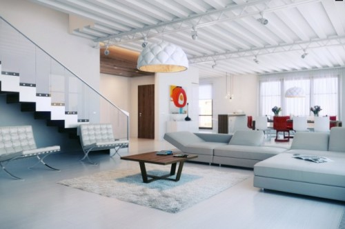 Dashingly Colorful Loft Design 1