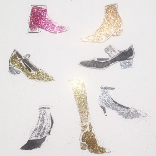 art Glitter shoes Boots Fall Fashion fashion sketch artists on tumblr saint laurent paris Saint Laurent fashion drawing shoe illustration shoe design jeanette getrost saint laurent shoes shoe drawing saint laurent boots