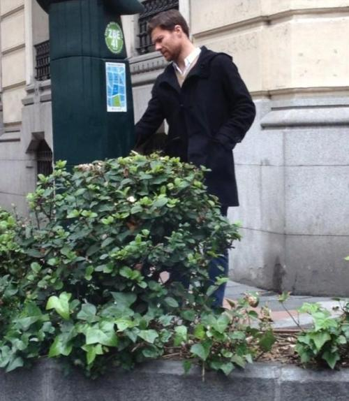 Paparazzi for a day: Xabi Alonso in Madrid.
