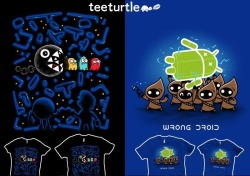 Check out our double feature guest designs by Spiritgreenart!! Get 'Teamwork' and 'Wrong Droid' on sale all week for $15!
