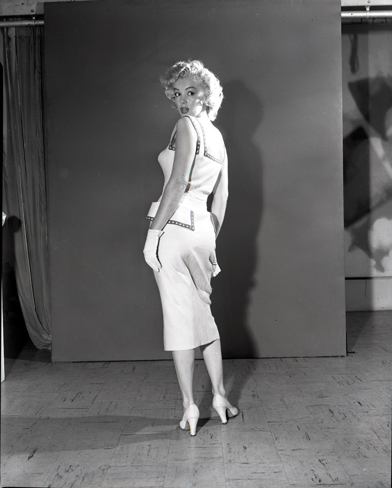 Marilyn Monroe in a costume test for Monkey Business in 1952