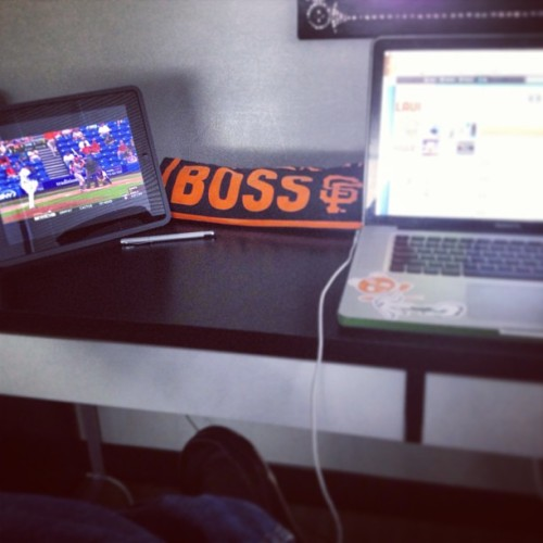 My desk at work currently @laughroulette #baseball #sfgiants #boss #mlb #SpringTraining #LaughRoulette