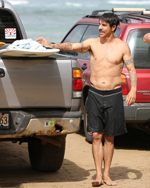 Anthony Kiedis after a Surf session in Hawaii on March 25th, 2013