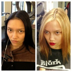 #black  to #blonde #model #makeover #werk #wilhemina #asian #beauty #paintedbyme #sallyhershbergerldt #wellahair #wellalife #auracolorist @charlottecarey_  (at Sally Hershberger Downtown )