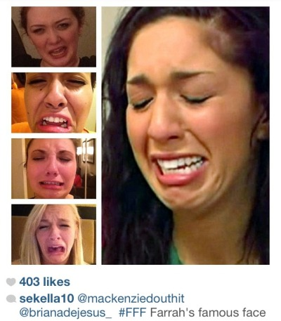 teenmombooger:  Uh oh! Teen Mom 3 girls making fun of Farrah's Ugly Cry!