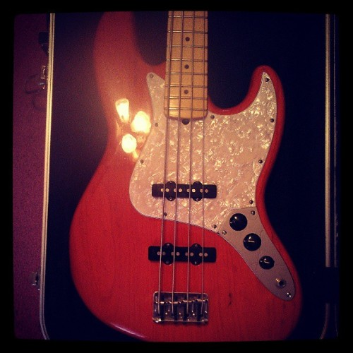 New pickguard. #fender #bass #mod #afirewithfriends #afwf #musician #band