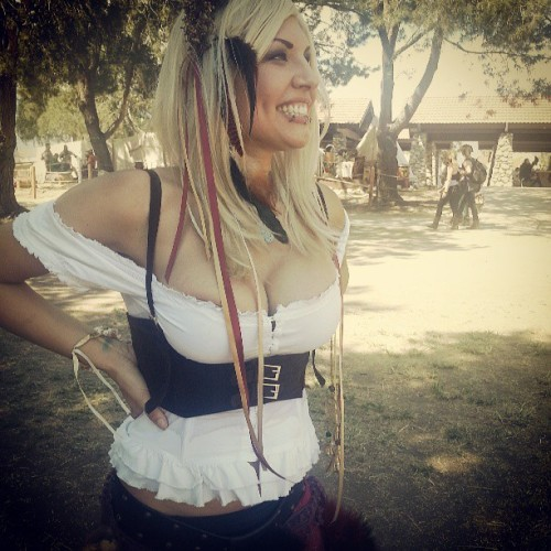Blonds have more fun! Hahaha @sandeehex  (at Rennaisance Pleasure Faire)