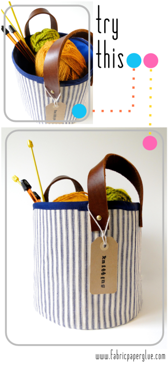 Fabric Paper Glue: Try This: Fabric Leather Storage Baskets