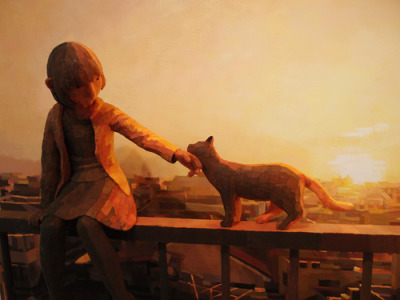 supersonicelectronic:   Shintaro Ohata. The image above is of a sculpture and a painting by Shintaro Ohata.  He combines the two in a truly original way.  See more below: Read More