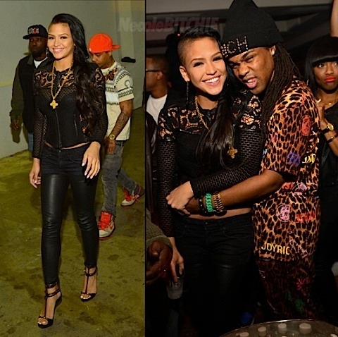 Cassie Ventura is still on her promo grind.  She was spotted hosting an album release party for her new mixtape RockabyeBaby this past weekend in Atlanta, while hanging out with Brian Davis (Concrete Loop's music editor.)