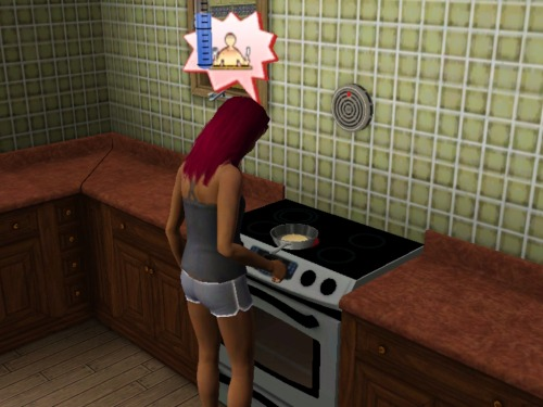 simsgonewrong:  Maybe you should, I dunno,NOT make pancakes if you'reTHAThungry…?