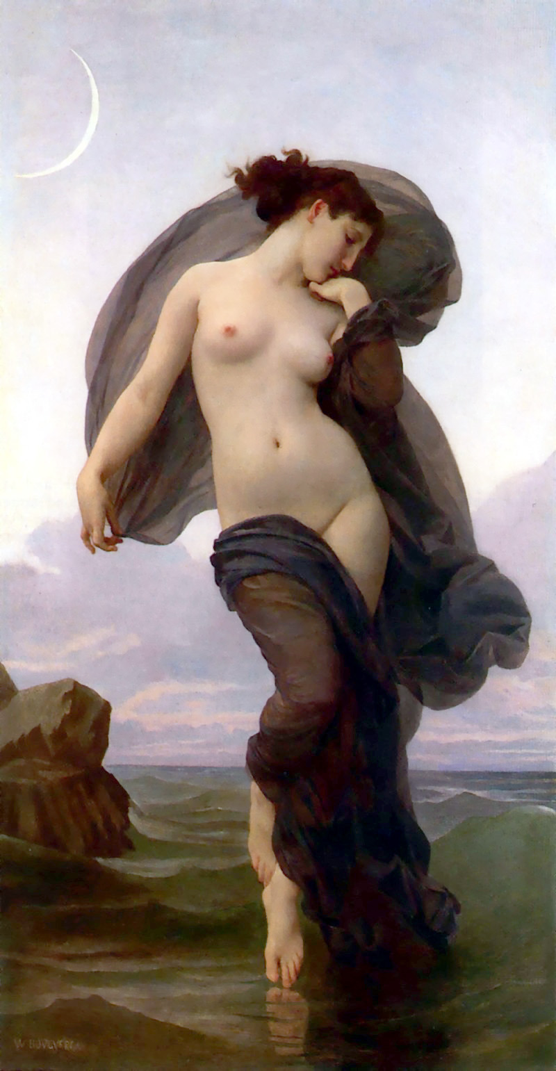 Evening Mood (1882) by the french painter : William Bouguereau (1825-1905).