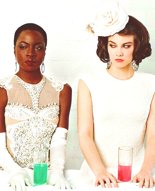 Danai Gurira and Lauren Cohan for Emmy Magazine
