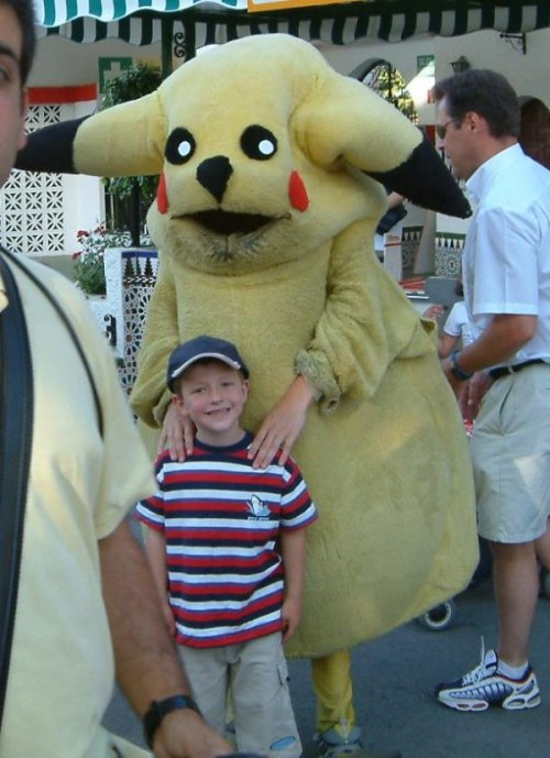 Horrifying Pikachu Mascot Pikachu, I choose…anyone but you.